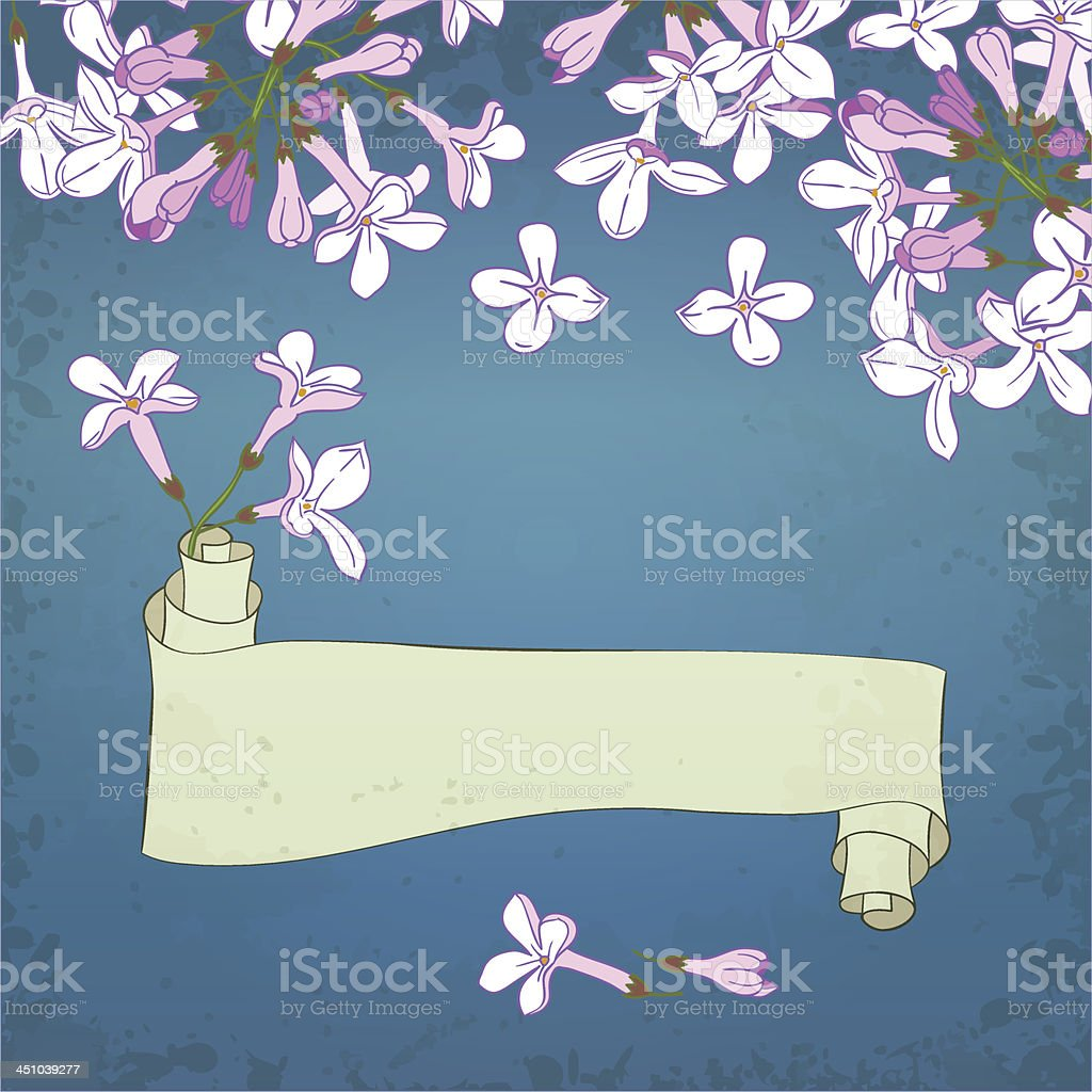 lilac&scroll royalty-free stock vector art