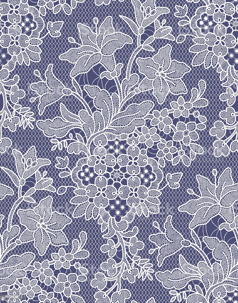 Lilies. Seamless Pattern. Lace. royalty-free stock vector art