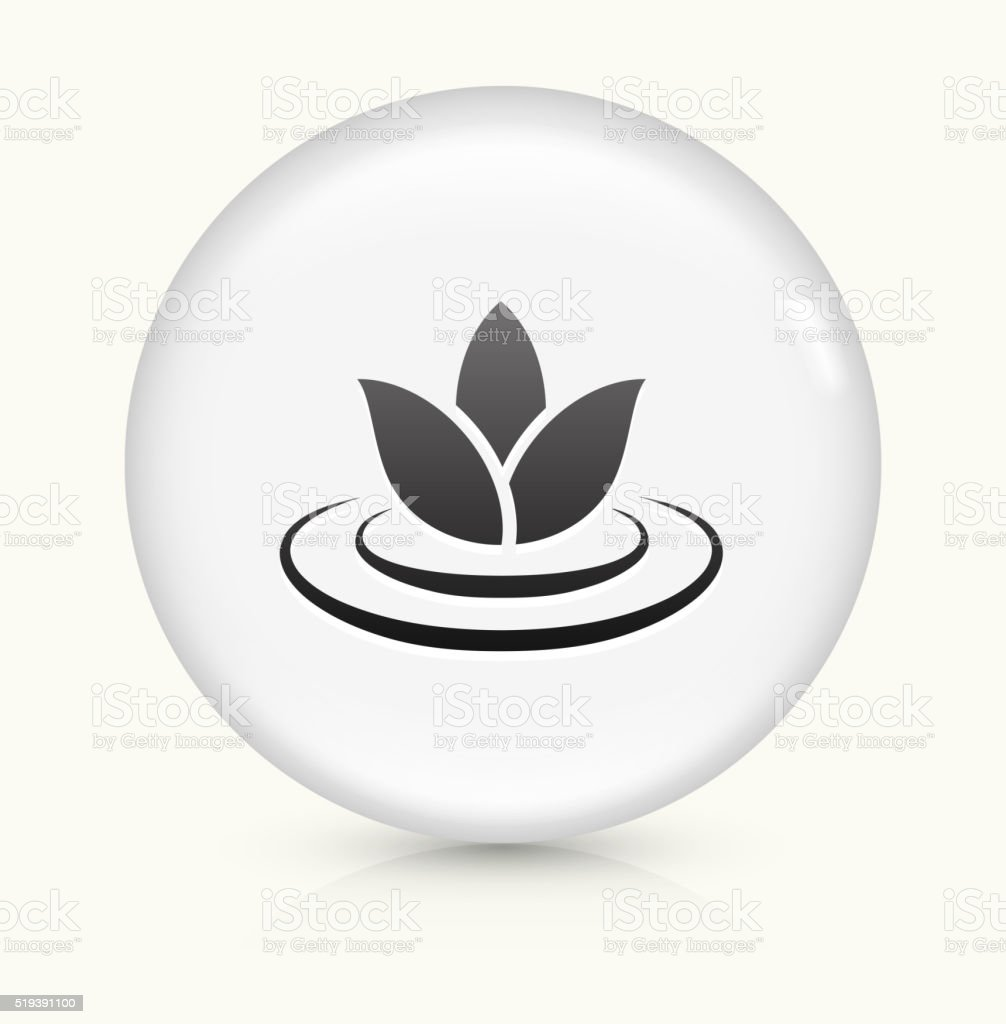 Lily Flower icon on white round vector button vector art illustration