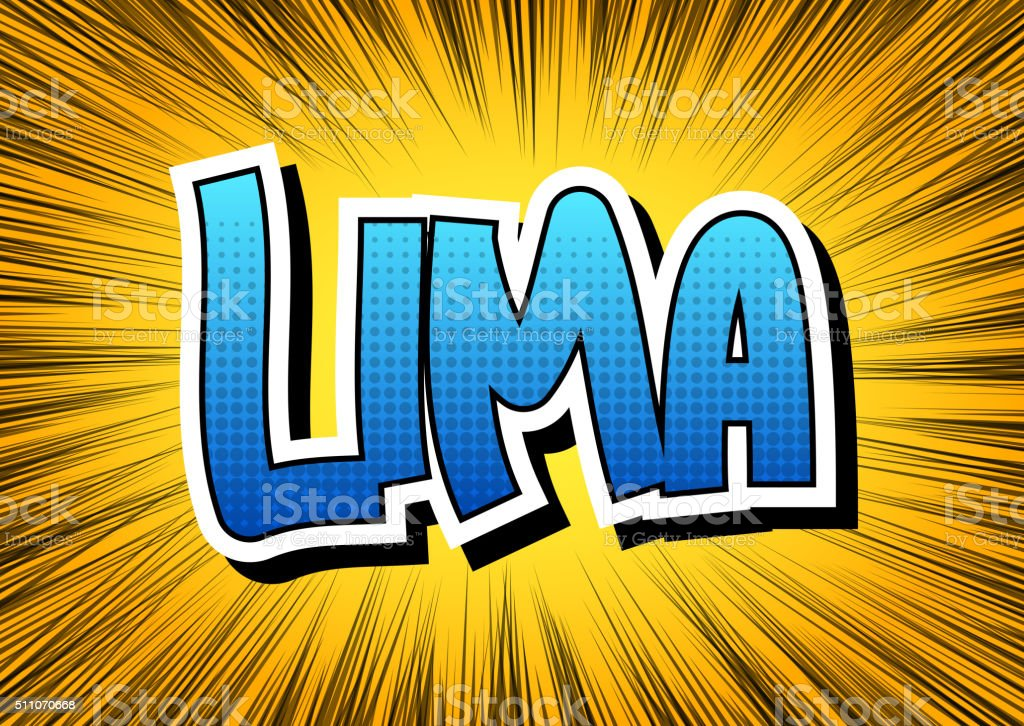 Lima - Comic book style word. vector art illustration