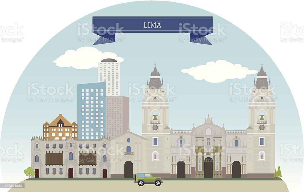 Lima, Peru vector art illustration