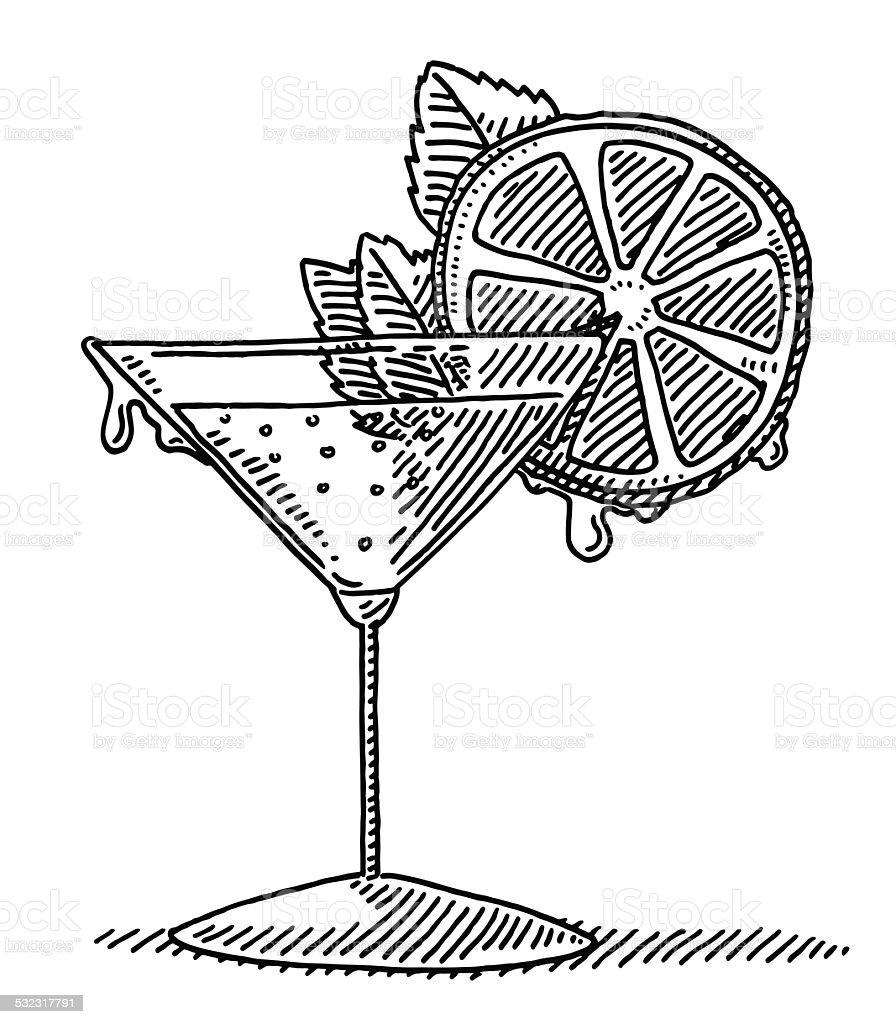 Citron vert cocktail de boisson dessin verre stock vecteur libres de droits 532317791 istock - Dessin cocktail ...
