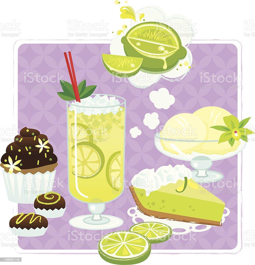 Lime Love vector art illustration