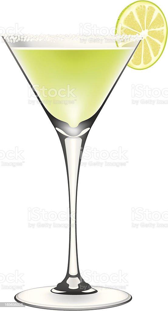 Lime Margarita Cocktail vector art illustration