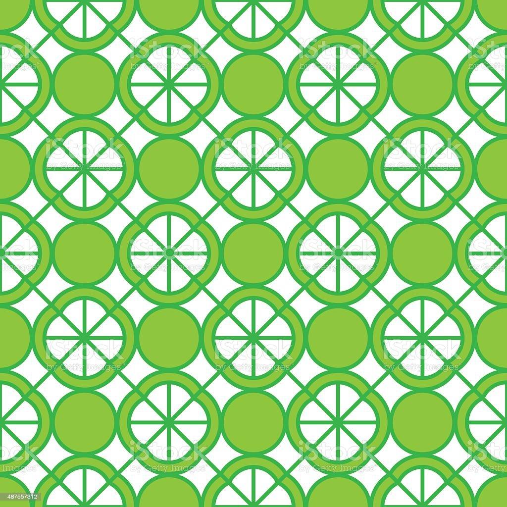 Lime Pattern vector art illustration