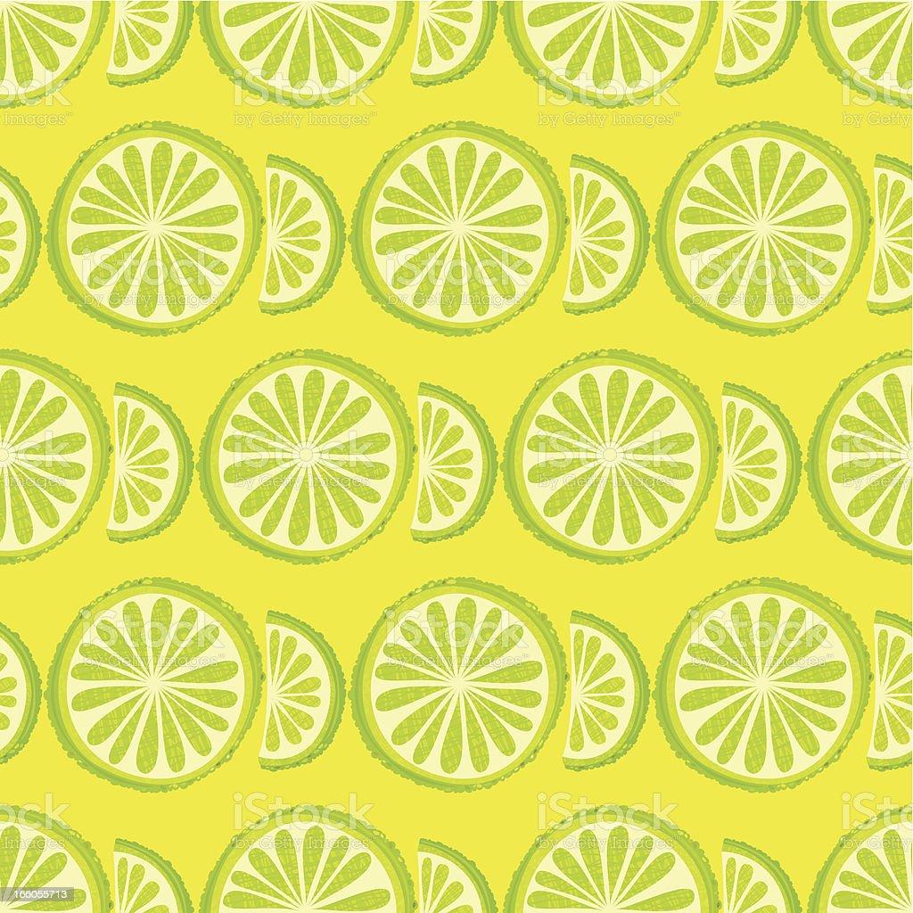 Lime Seamless Pattern vector art illustration