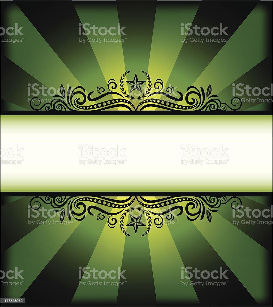 LimeStar Frame royalty-free stock vector art