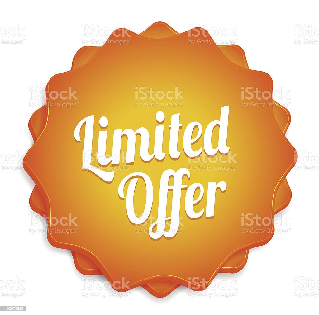 Limited Offer Badge vector art illustration