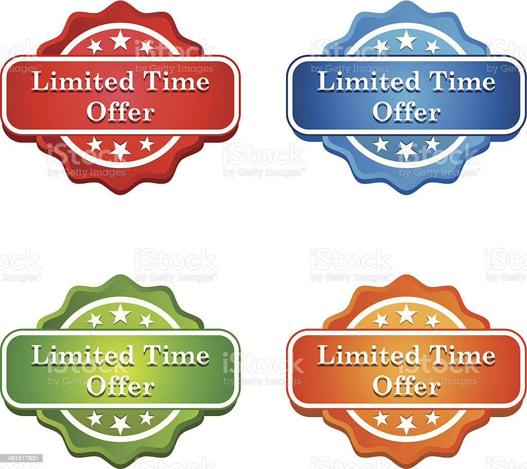 Limited Time Offer Tag icon vector art illustration