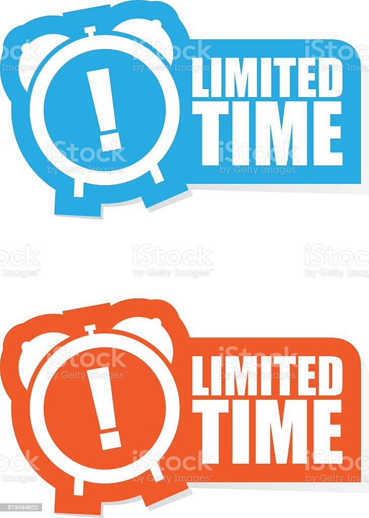 Limited Time Sticker Label vector art illustration