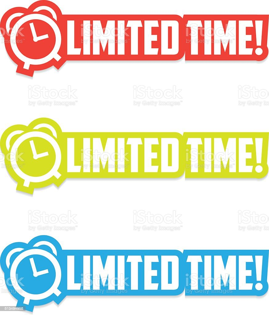 Limited Time Stickers vector art illustration