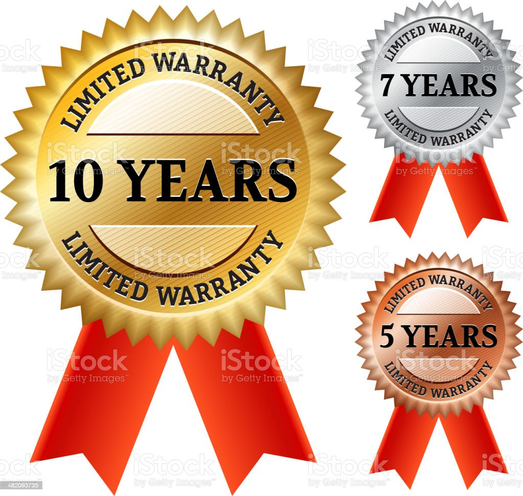 Limited Warranty Collection EPS10 royalty-free stock vector art