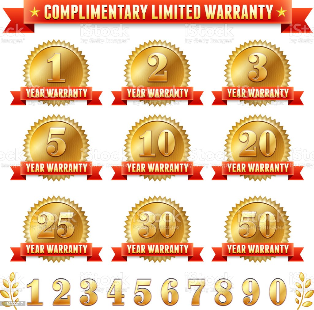 Limited Warranty Collection vector art illustration