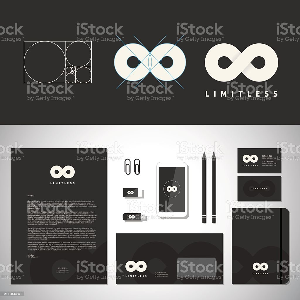 Limitless Abstract Logo Template and Identity vector art illustration