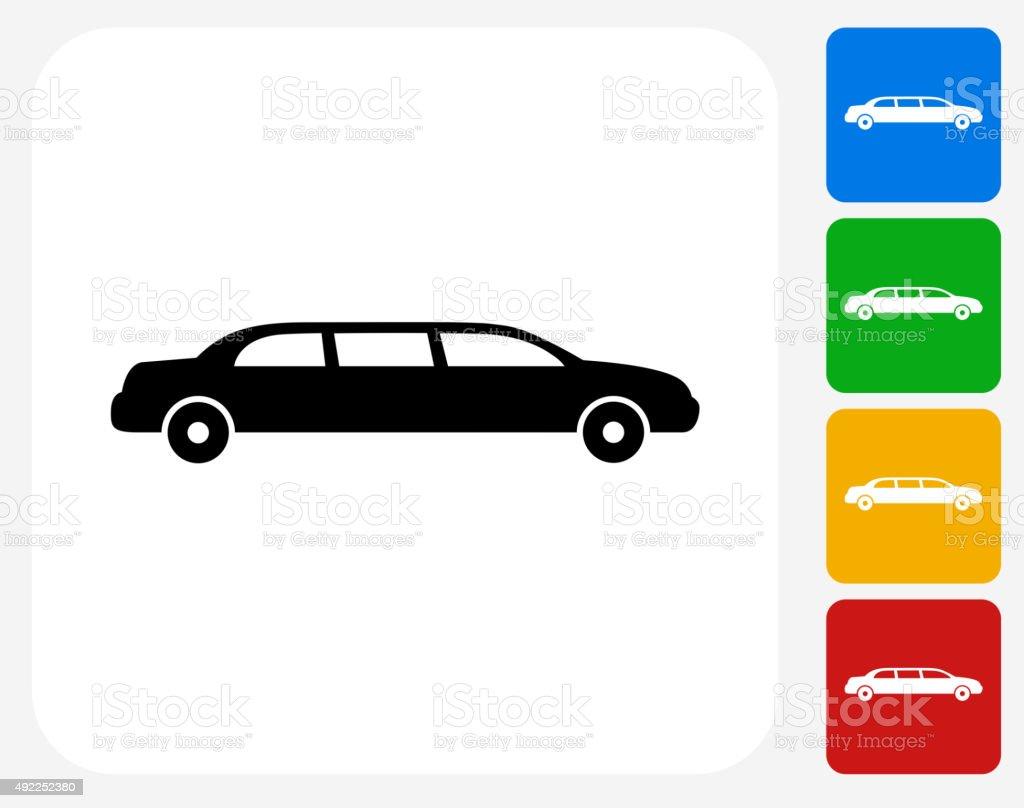 Limo Icon Flat Graphic Design vector art illustration