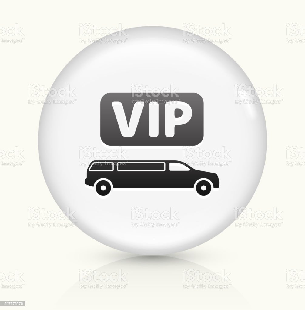 VIP Limo icon on white round vector button vector art illustration