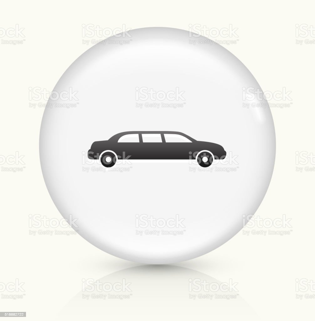 Limo icon on white round vector button vector art illustration