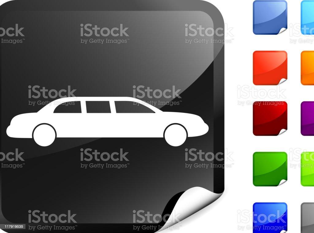 limousine on sticker royalty-free stock vector art