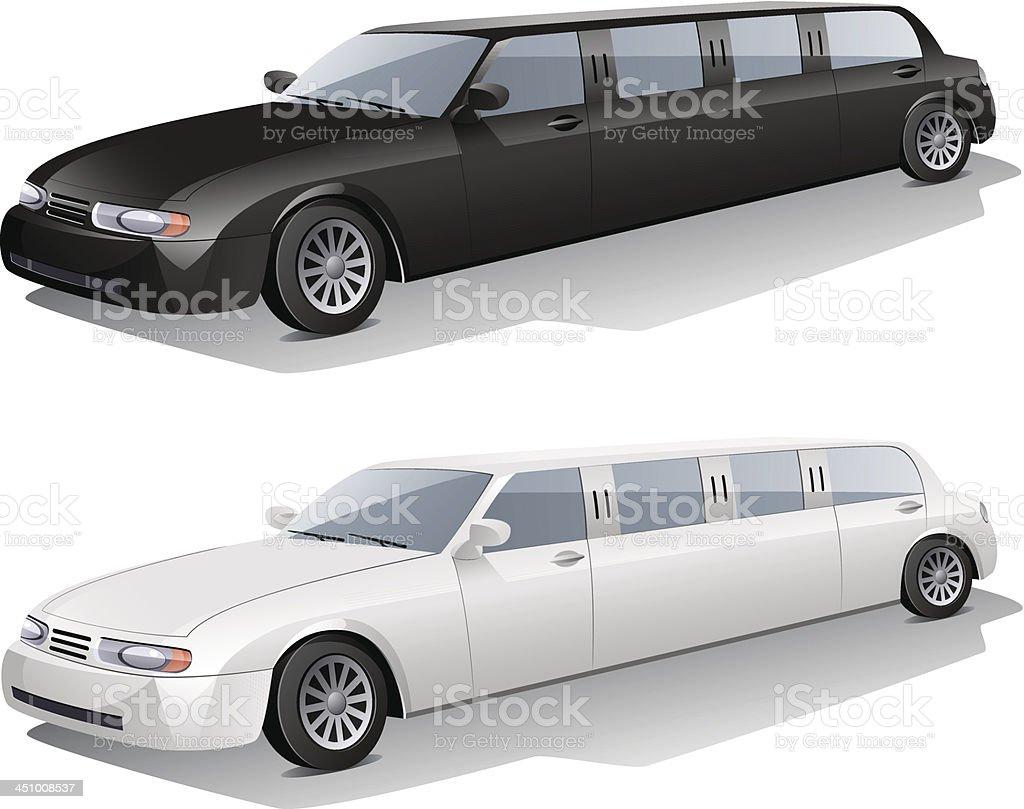 Limousine vector art illustration