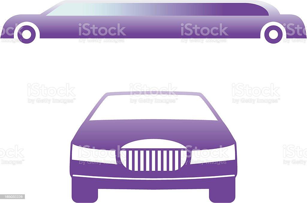 Limousine - vector symbols vector art illustration