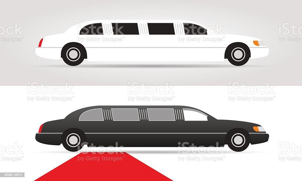 limousines vector art illustration