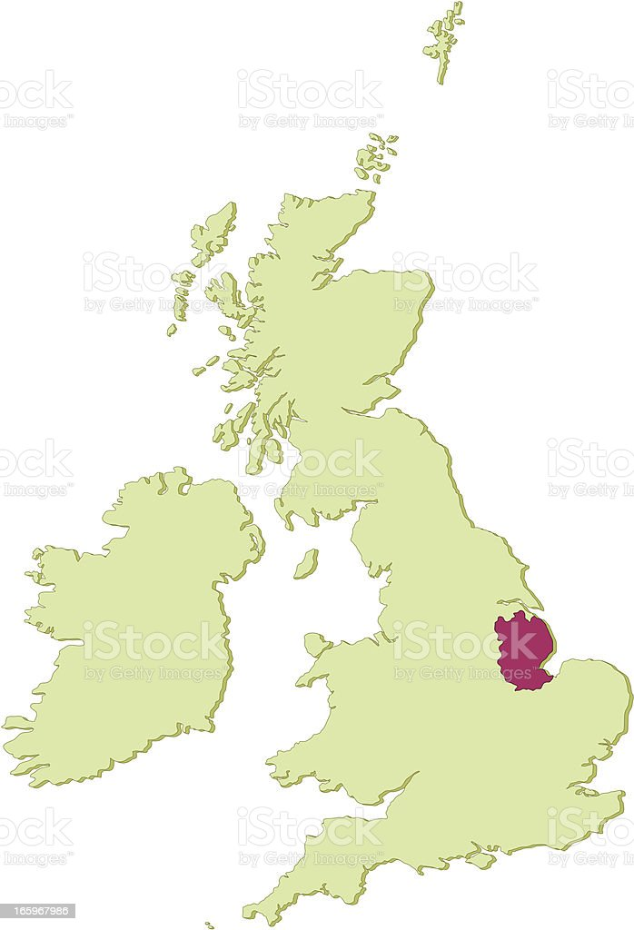 UK Lincolnshire map vector art illustration