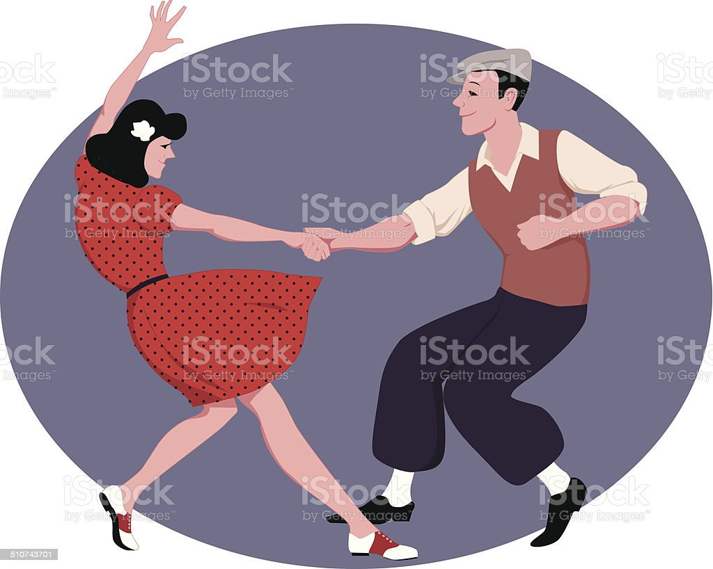 Lindy Hop vector art illustration