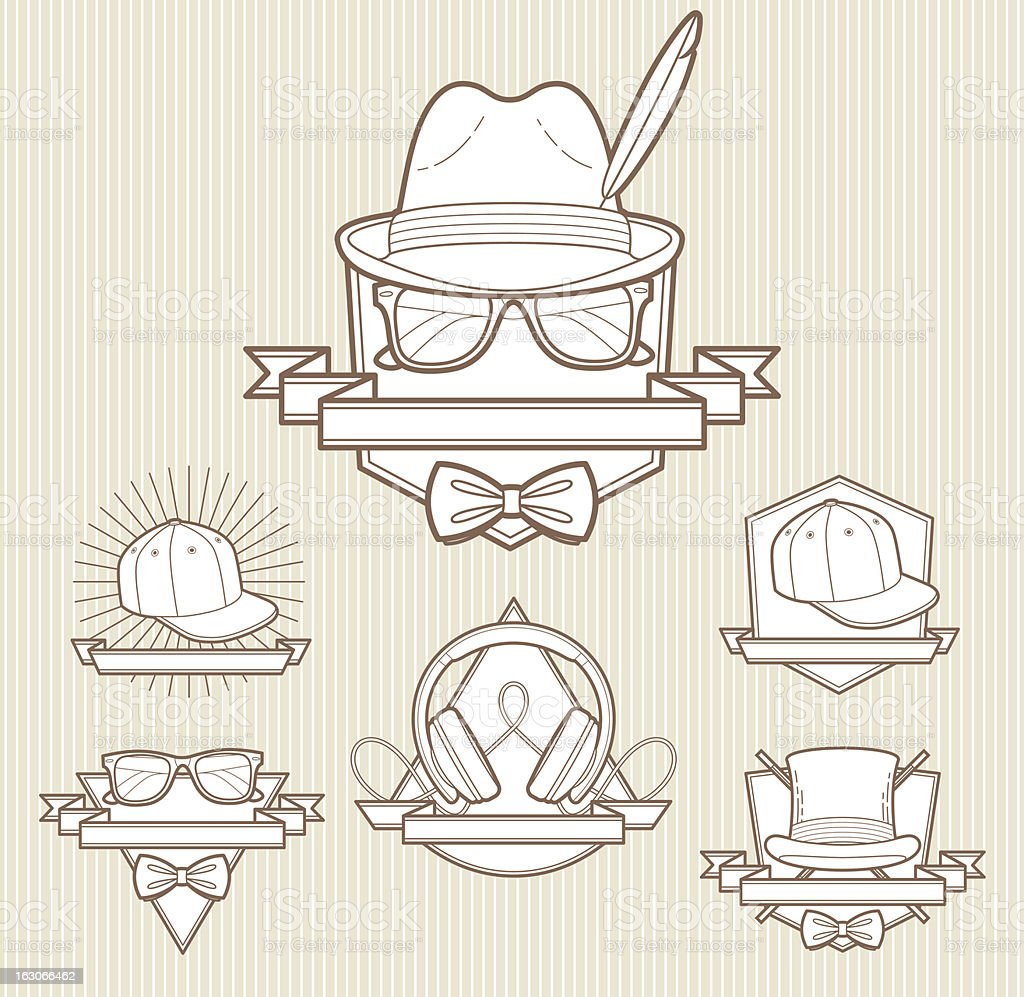 Line art emblems royalty-free stock vector art