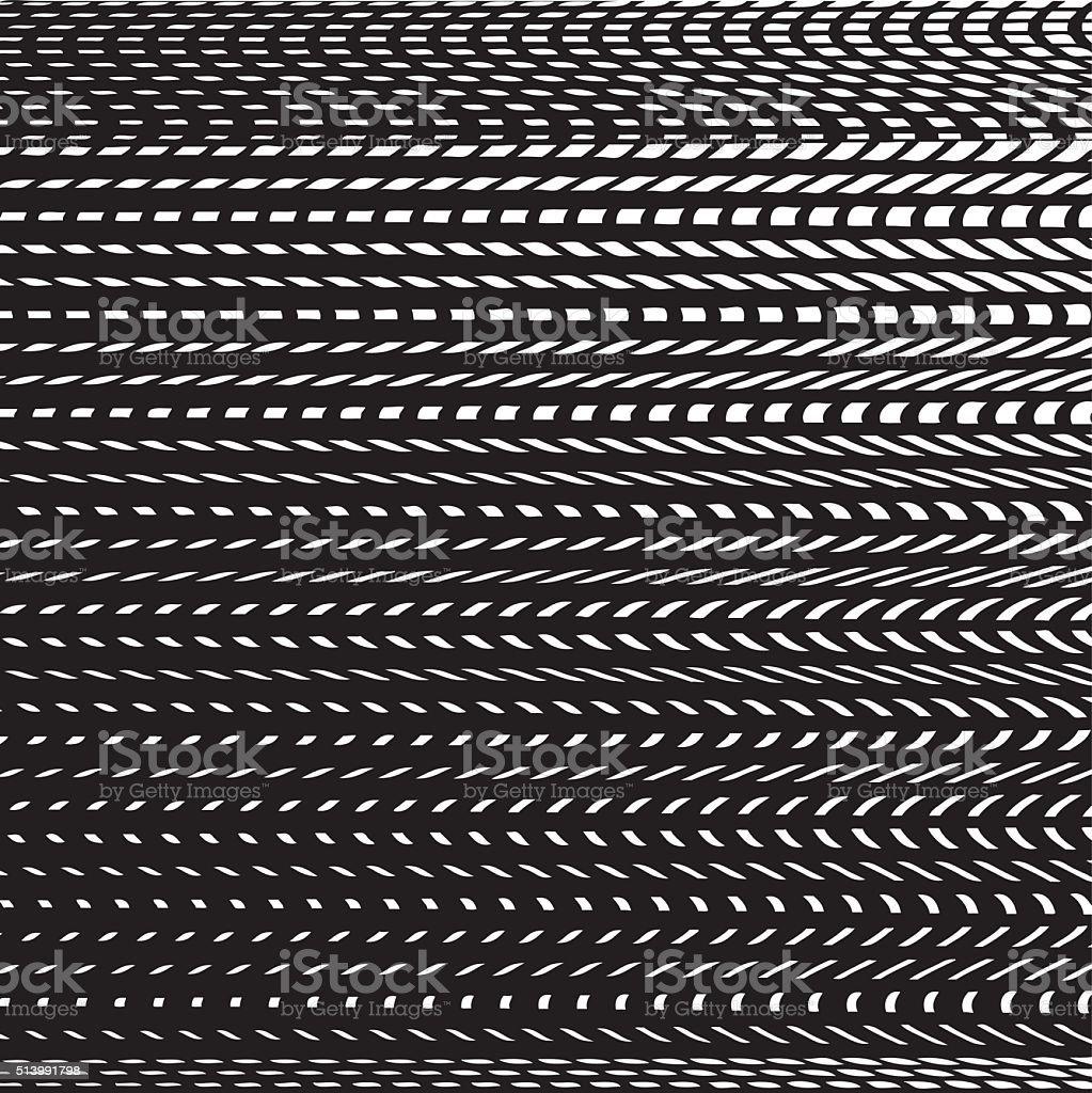Line art illustration of a striped aggregate patterns vector art illustration