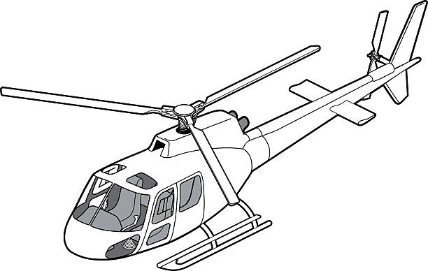 Line Drawing Helicopter : Helicopter clip art vector images illustrations istock
