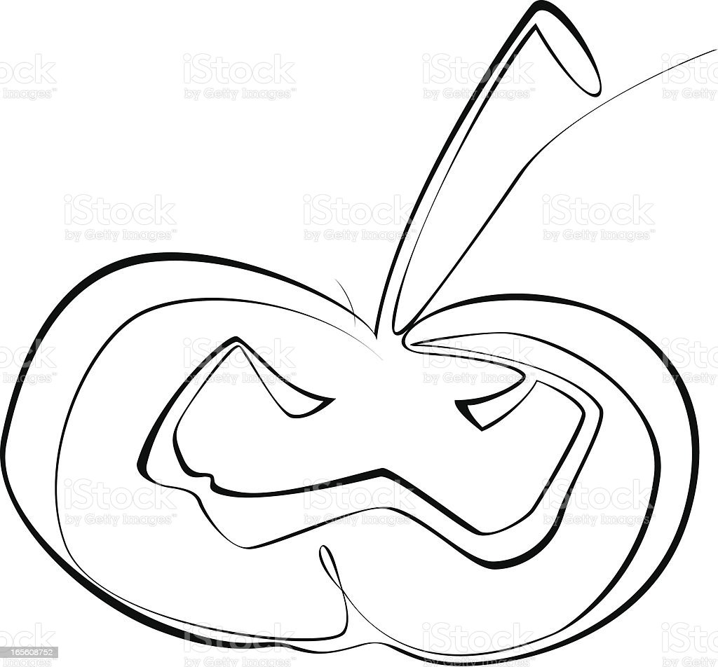 Line art pumpkin royalty-free stock vector art