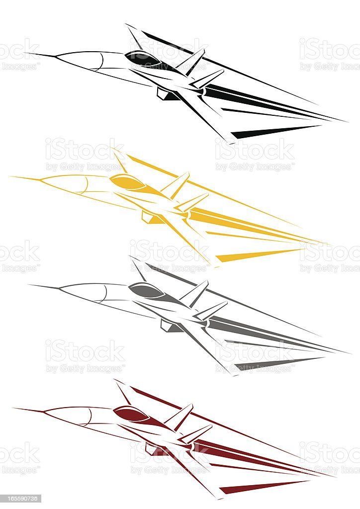 F18 line art royalty-free stock vector art
