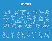 Line design concept and web banner for sport