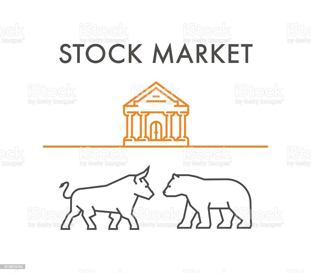 Line design concept for stock market. vector art illustration