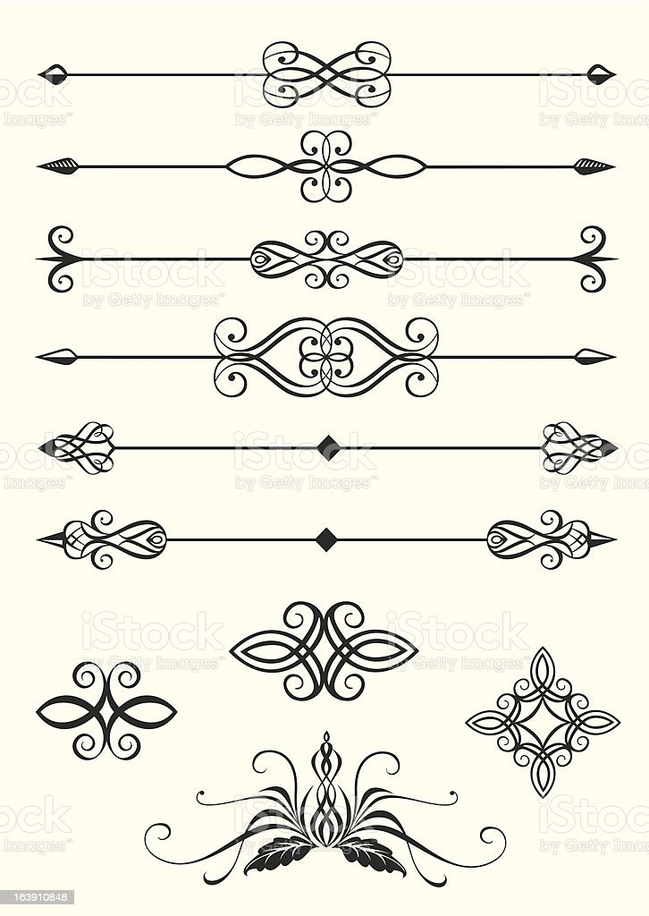 Line dividers royalty-free stock vector art