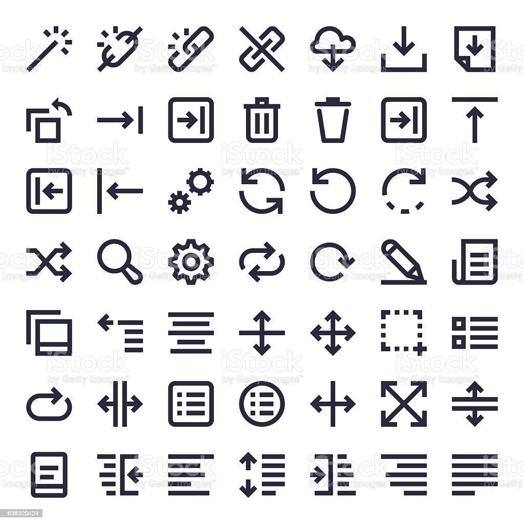 Line Essential Icons 15 vector art illustration