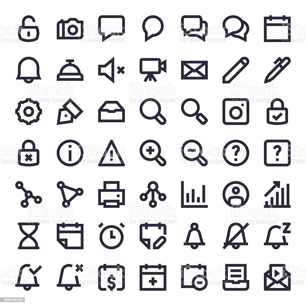 Line Essential Icons 56 vector art illustration