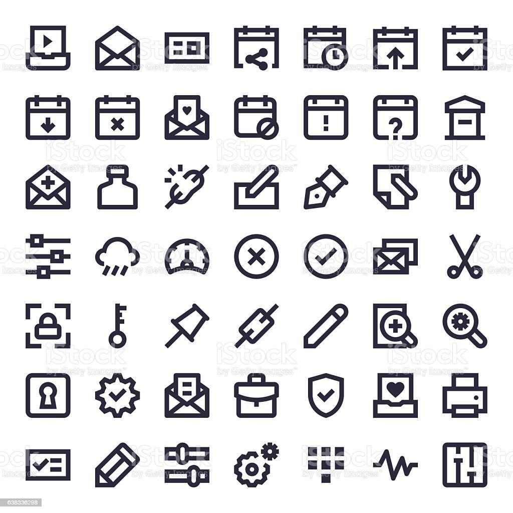 Line Essential Icons 57 vector art illustration