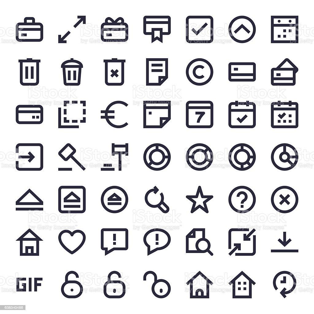 Line Essential Icons 67 vector art illustration