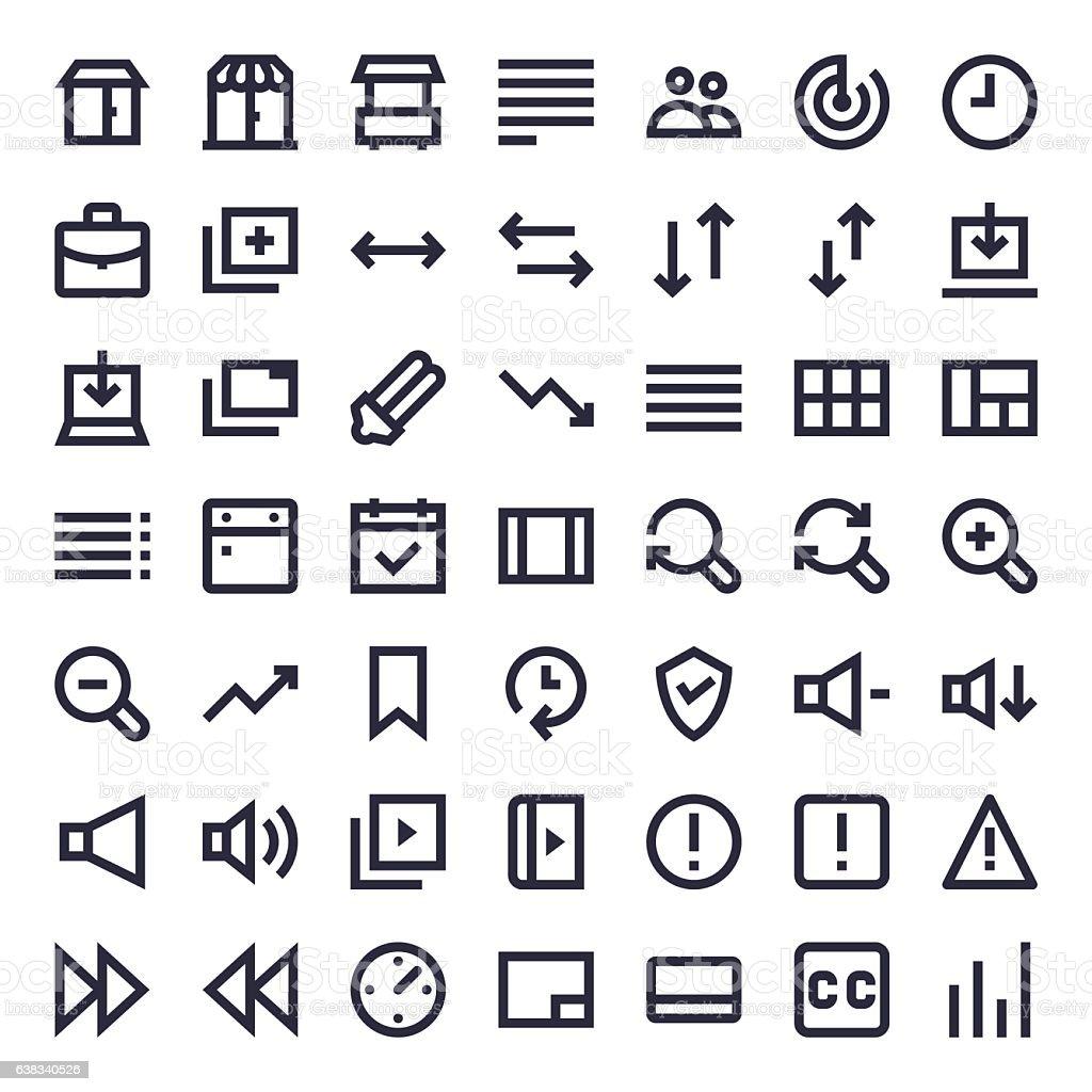 Line Essential Icons 70 vector art illustration