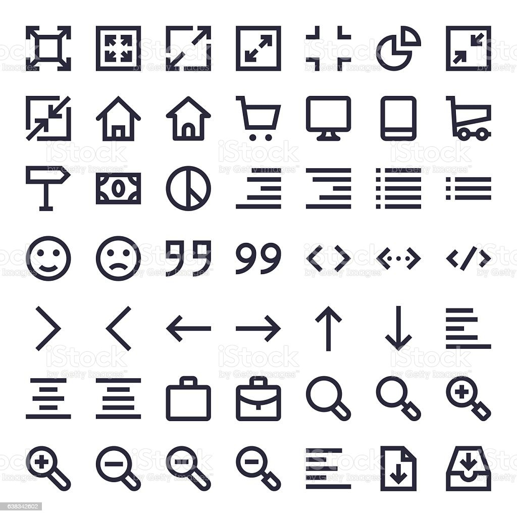 Line Essential Icons 88 vector art illustration