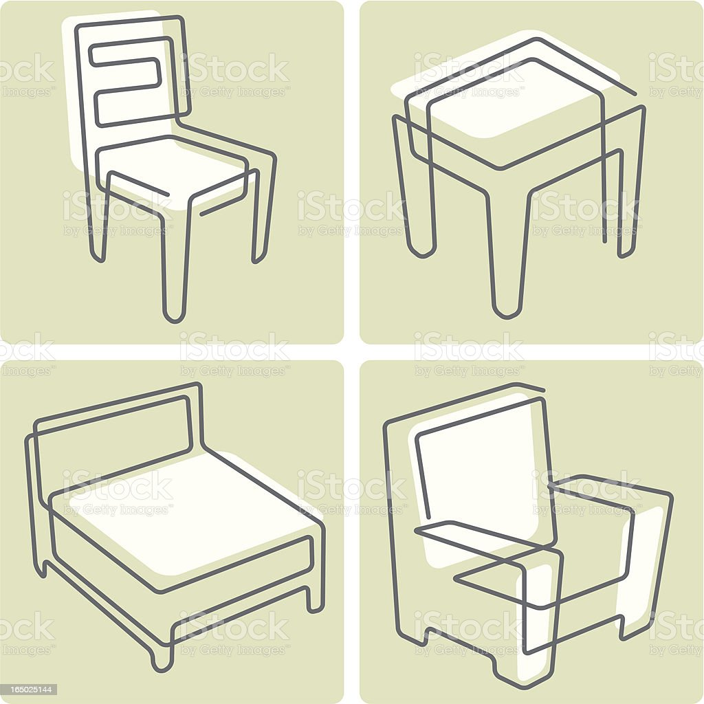 line furniture royalty-free stock vector art