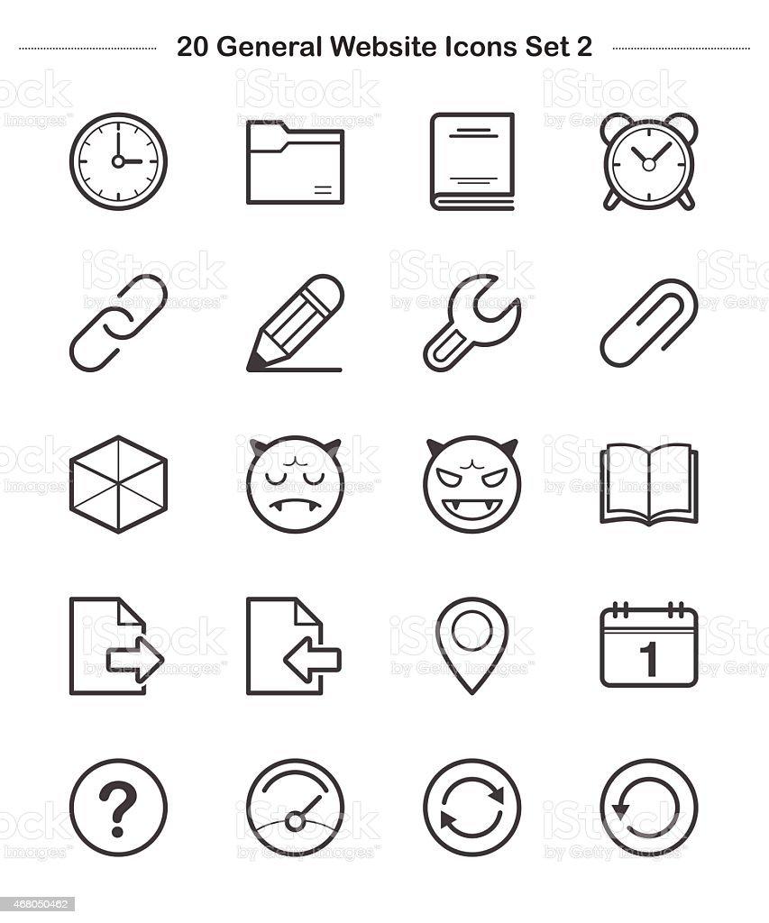 Line icon - General icons Set 2, Bold vector art illustration