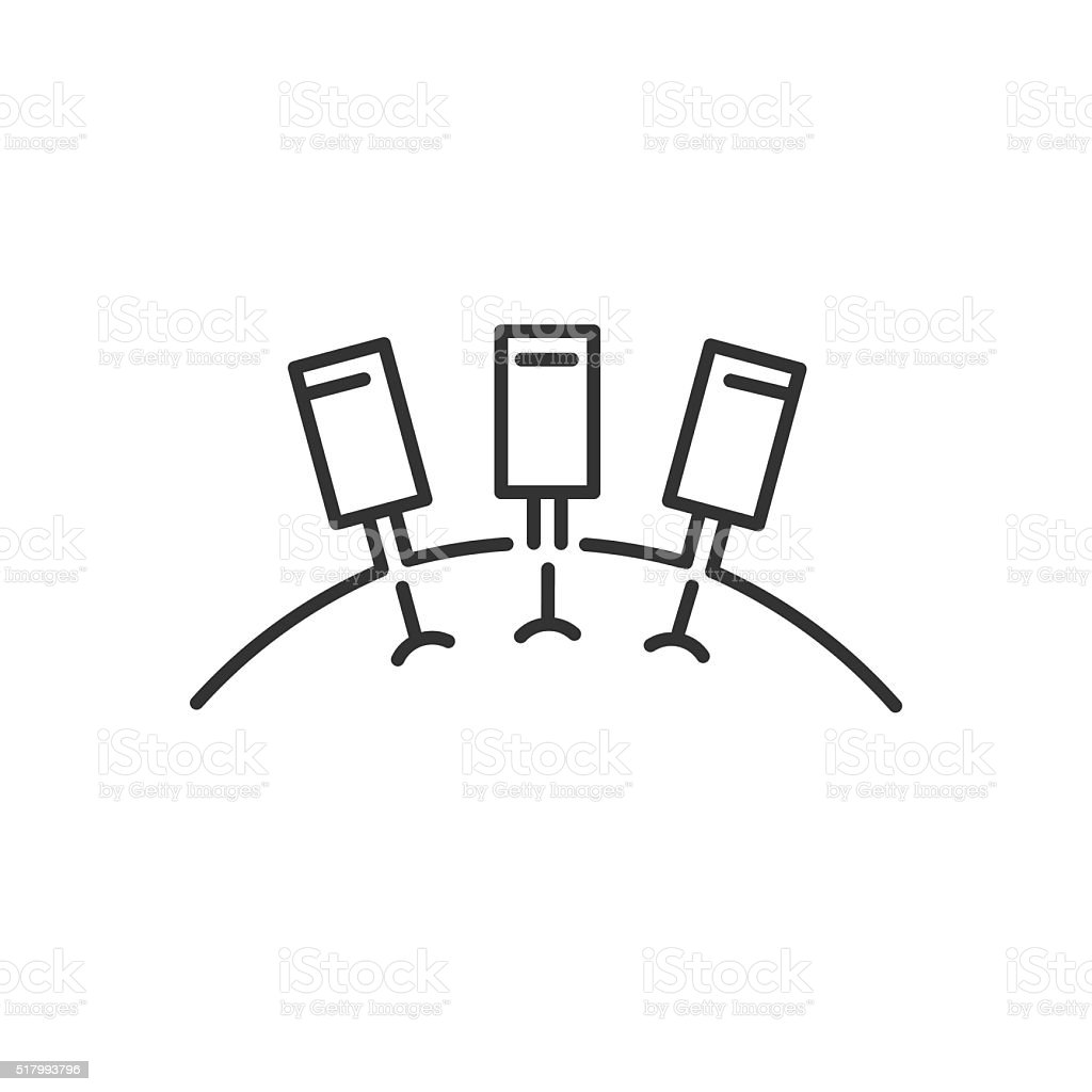 Line Icon Style,  Getting An Acupuncture icon vector art illustration
