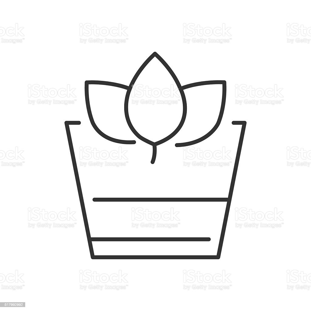 Line Icon Style, Herbal Drink icon vector art illustration