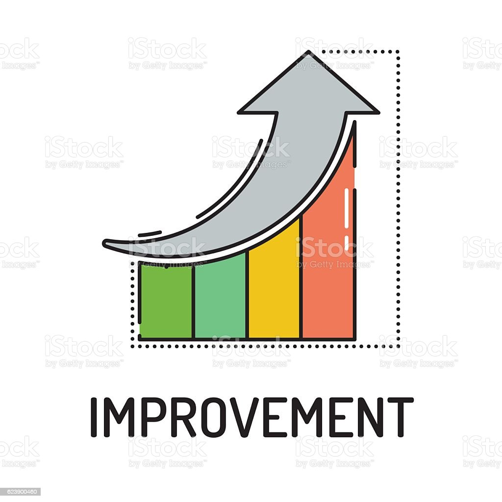 IMPROVEMENT Line icon vector art illustration