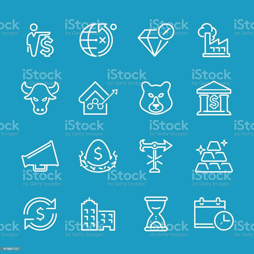 Line icons - Business & Investment Series vector art illustration