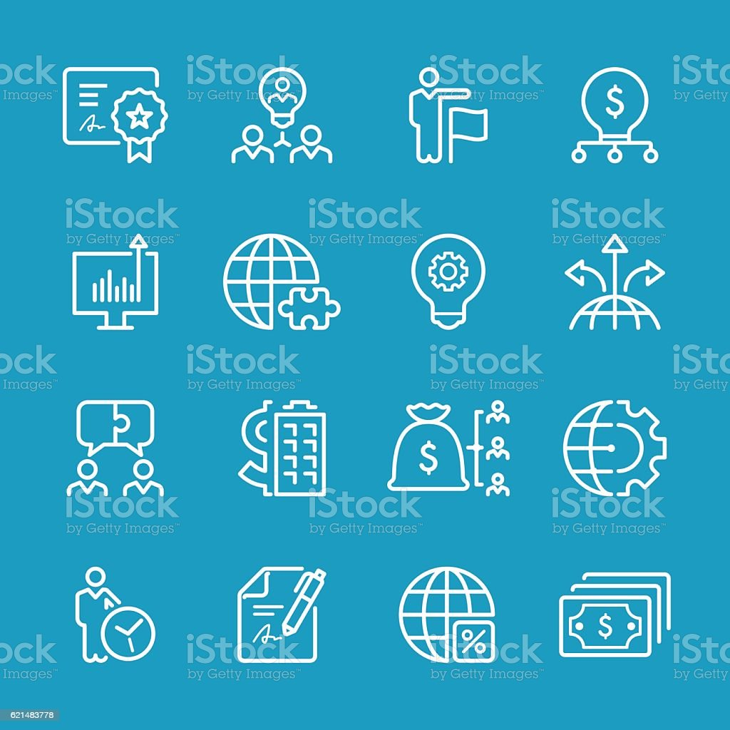 Line icons - Business Series vector art illustration