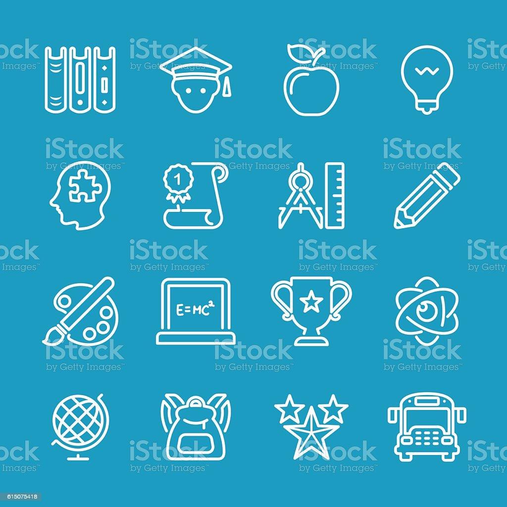 Line icons - Education Series vector art illustration
