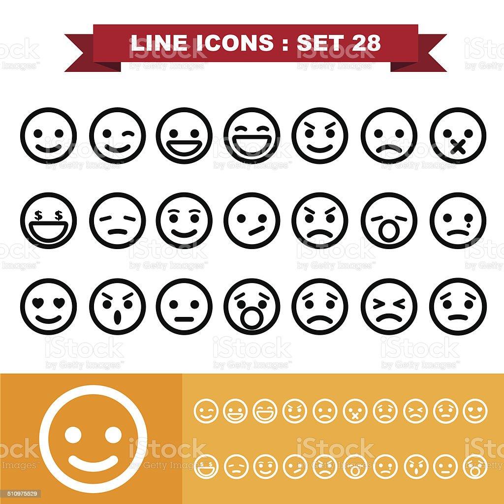 Line icons set 28 vector art illustration